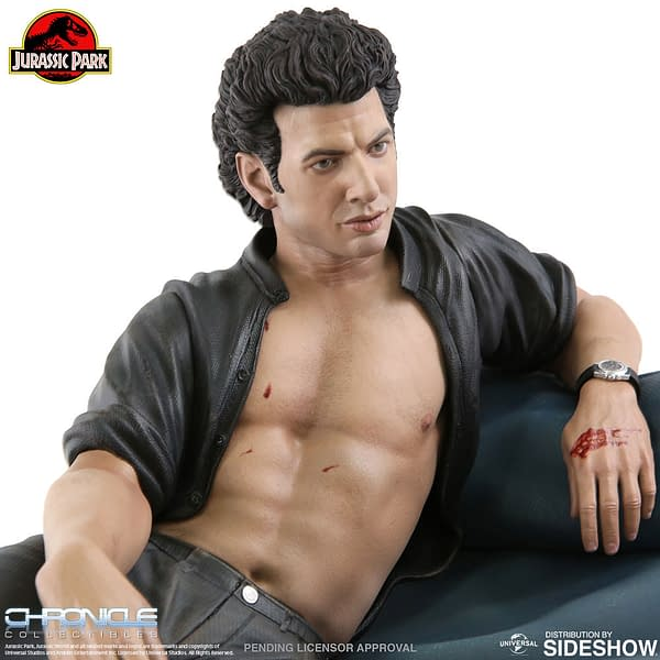 Jurassic Park Sexy Jeff Goldblum Statue Chronicle 5