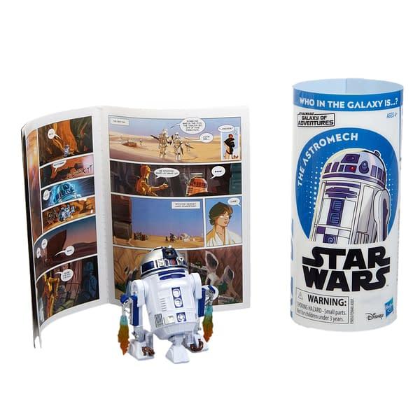 STAR WARS GALAXY OF ADVENTURES R2-D2 Figure and Mini Comic (2)