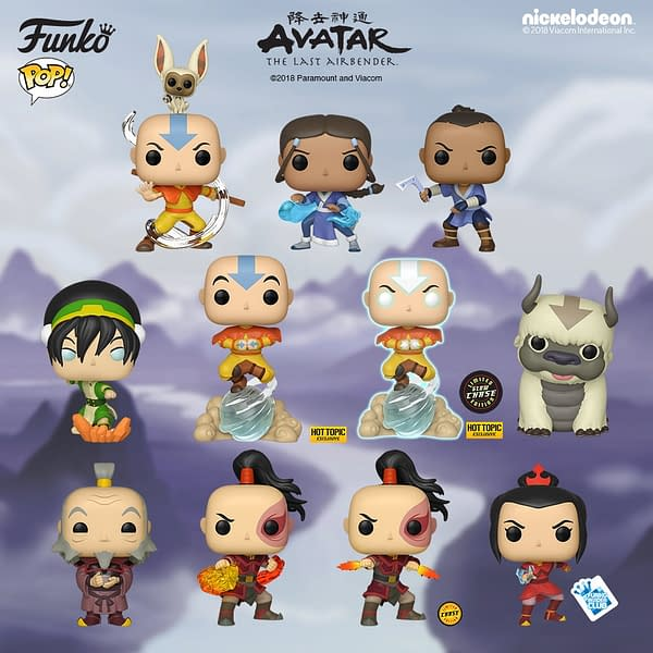 FUNKO Announces 'Avatar: The Last Air Bender' Pop Vinyls!