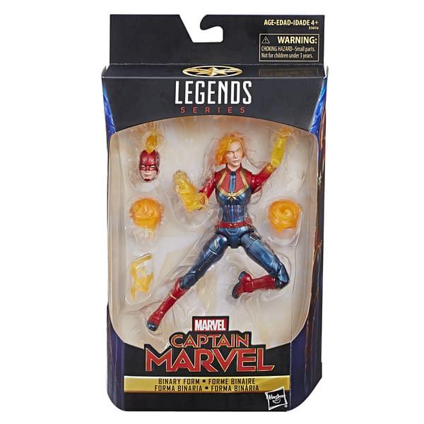 Marvel Legends Captain Marvel Binary Figure Packaged