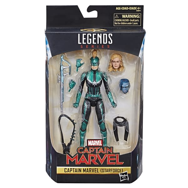 Marvel Legends Captain Marvel Starforce Packaged