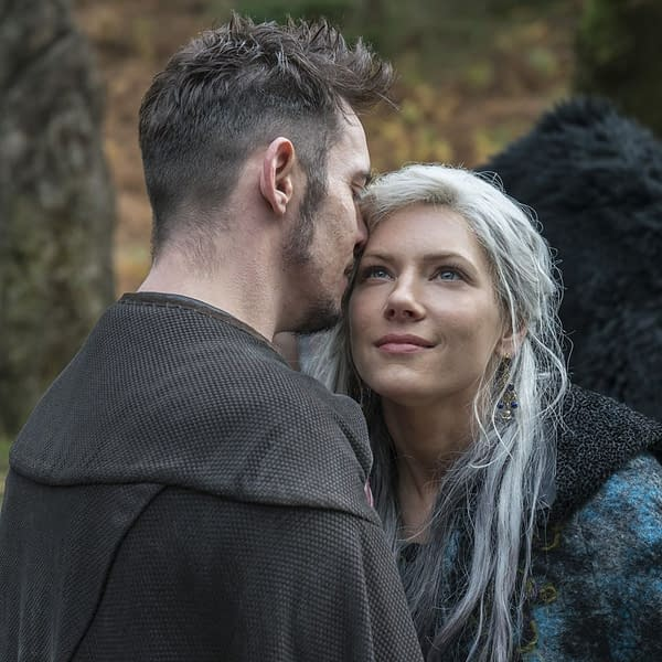 "Katheryn Winnick Talks [SPOILER]'s Death in 'Vikings' s5e15, ""Hell"""