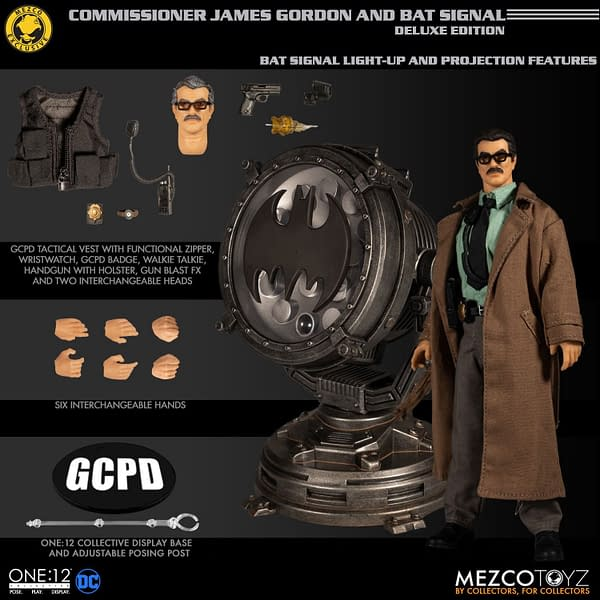 Jim Gordon One:12 Collective Figure Gets a Working Bat Signal