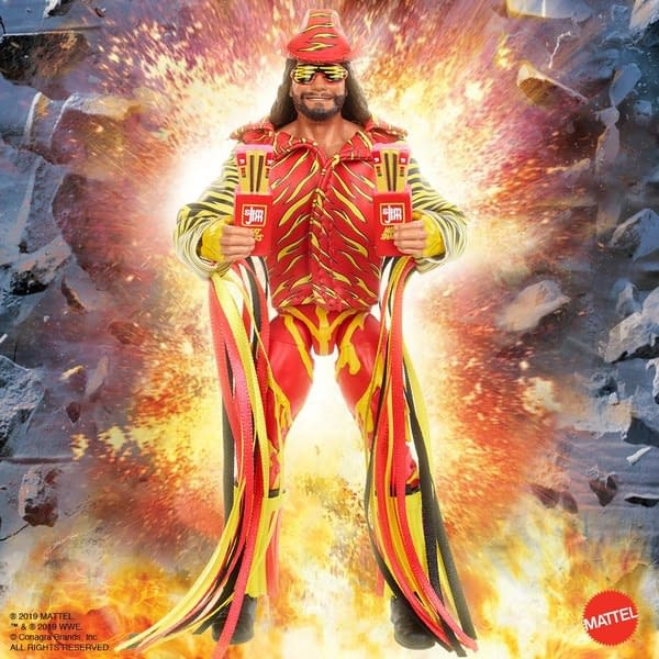 Macho Man Randy Savage WWE Eilte Slim Jim SDCC Exclusive Figure on its Way