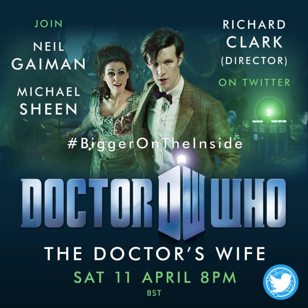 Join Neil Gaiman, Michael Sheen, and Richard Clark for a live rewatch of Doctor Who, courtesy of BBC Studios.