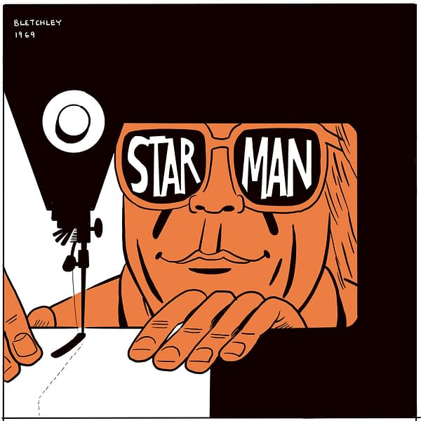 The Making of David Bowie's Starman, in Comic Book Form.