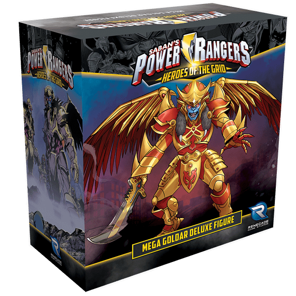 The Mega Goldar deluxe figure for Power Rangers: Heroes of the Grid by Renegade Game Studios.
