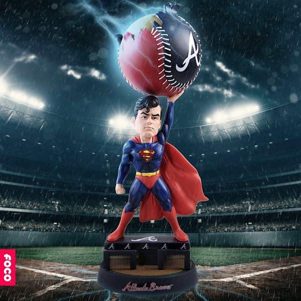 BHMBDC-FOCO DC Comics X MLB Bobblehead Superman