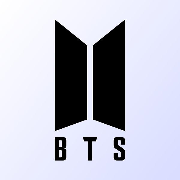 BTS music group logo. by ALX1618/Shutterstock.com.