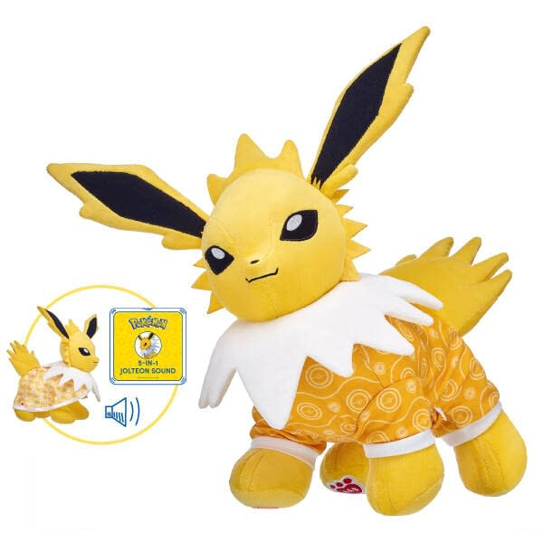 A better look at Jolteon, courtesy of Build-a-Bear Workshop.