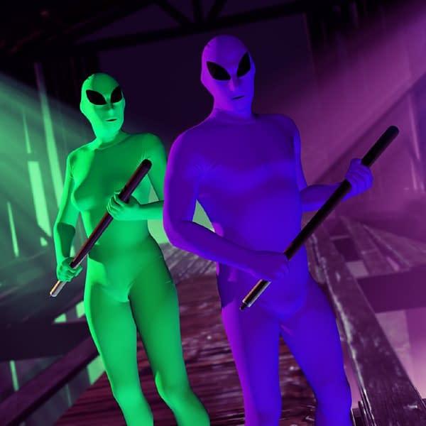 Who doesn't want to dress in a full alien bodysuit?