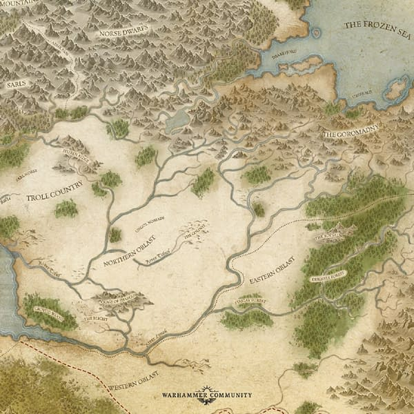 A map of Kislev, from Warhammer: The Old World, an upcoming game by Games Workshop.