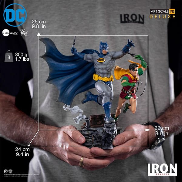 Batman and Robin 1/10 Scale Statue from Iron Studios