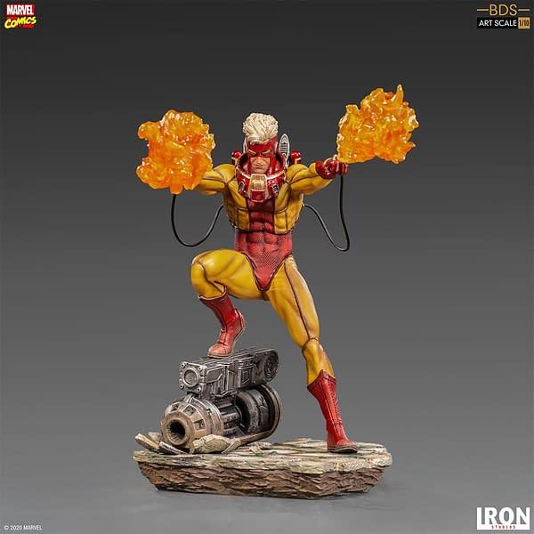 X-Men Pyro Brings the Heat in New Iron Studios Statue