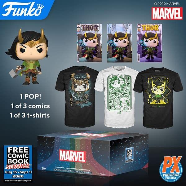 Funko Loki Free Comic Book Summer Mystery Box