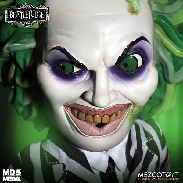 It's Showtime With the New TalkingBeetlejuice From Mezco Toyz