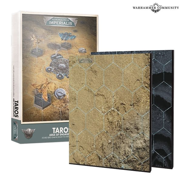 The Taros Area of Engagement board for Aeronautica Imperialis, a game by Games Workshop.