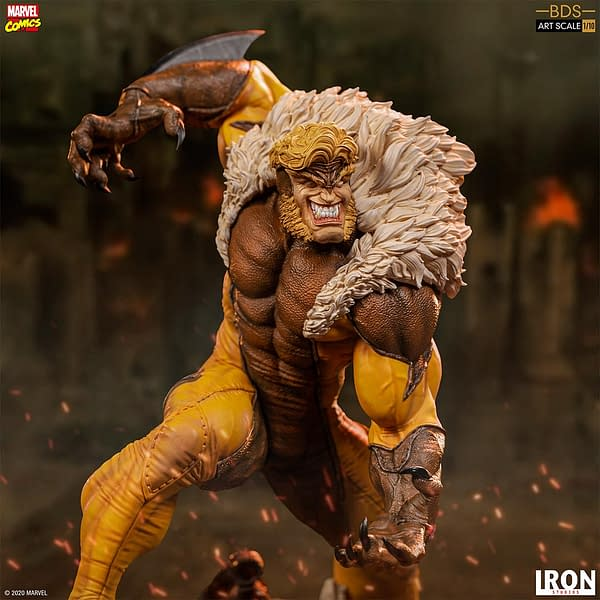 Sabretooth Takes on the X-Men in New Iron Studios Statue