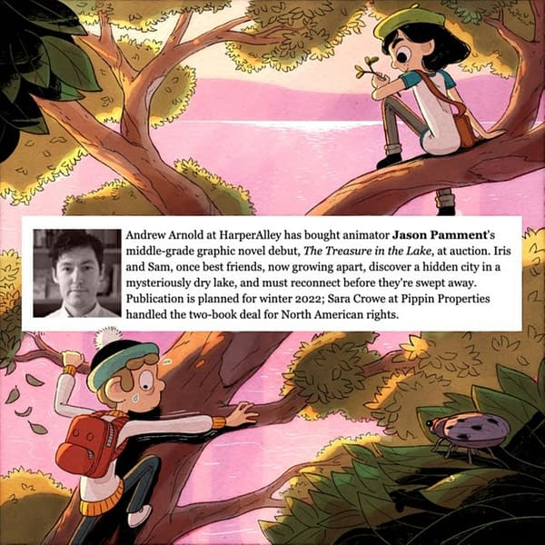 Jason Pamment Sells Graphic Novel, The Treasure in the Lake to HarperAlley.
