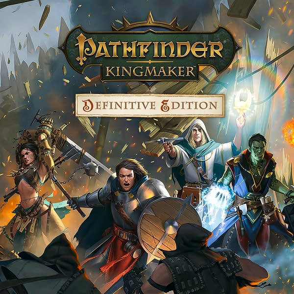 Key art for Pathfinder: Kingmaker Definitive Edition, an upcoming game by Owlcat Games and Deep Silver in conjunction with Paizo.