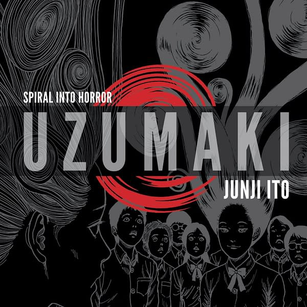 The VIZ Media cover for Junji Ito's terrifying horror manga Uzumaki, which will soon be adapted into an anime series.