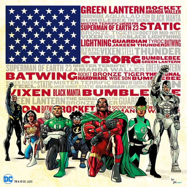 DC Comics Takes The Knee For Juneteenth.