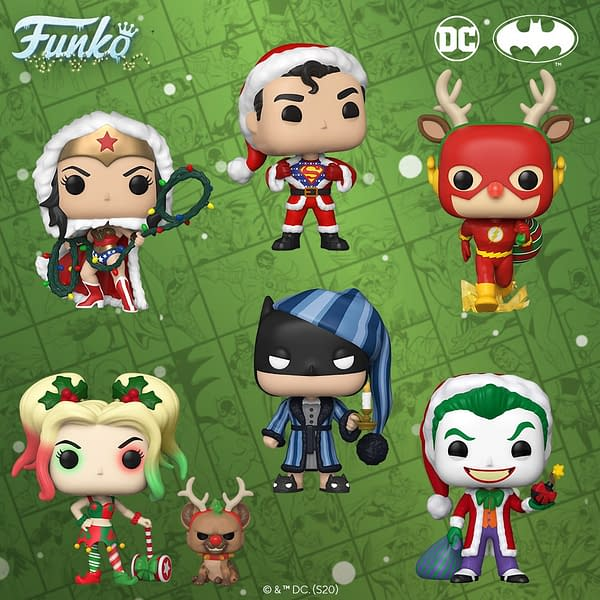 DC Comics Get Festive with New Holiday Themed Funko Pops