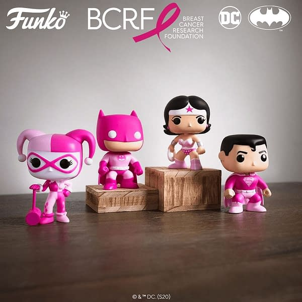 Funko Announces Breast Cancer Awareness DC Heroes Pops