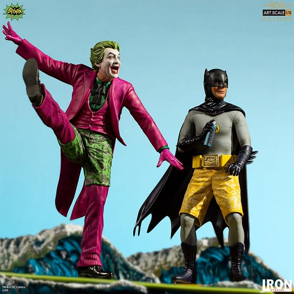 It's Surfs Up with Batman 66' Statues from Iron Studios