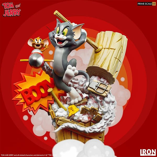 Tom and Jerry Get Wacky With New Iron Studios Statue