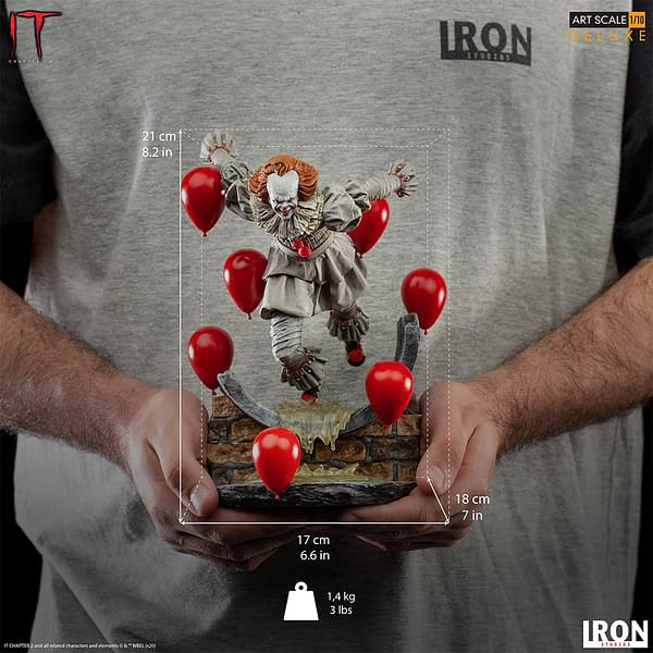 Pennywise is Ready to Party With New Iron Studios Statue