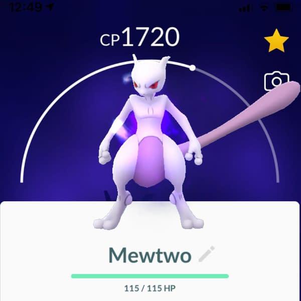 Should Shadow Mewtwo be purified? Credit: Theo Dwyer's Pokémon GO account.