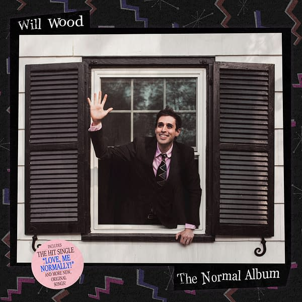 The cover for Will Wood's newest album, The Normal Album, out today!