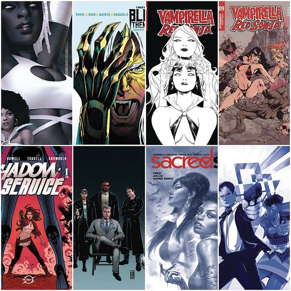 Dynamite, Boom, Vault FOC Covers From Derrick Chew, Jae Lee and More.