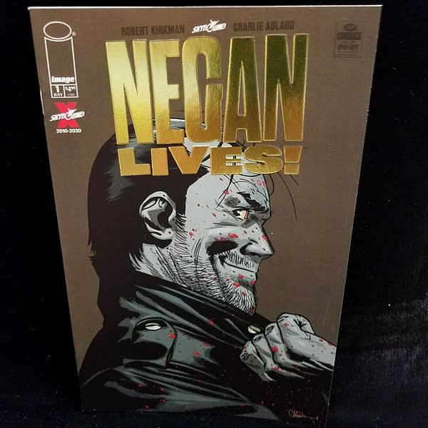 Retailers Get Surprise Bronze Foil Walking Dead: Negan Lives Variant