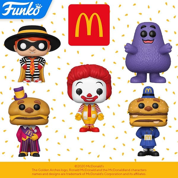 Funko Teams Up With McDonalds for New Line of Pop Vinyls