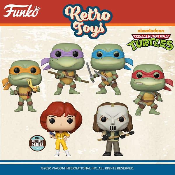 Funko Announces New Teenage Mutant Ninja Turtle Pop Vinyls