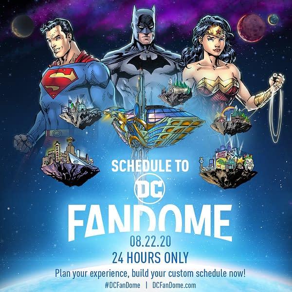Neil Gaiman, Todd McFarlane, Jim Lee, on DC Fandome Comics Panels