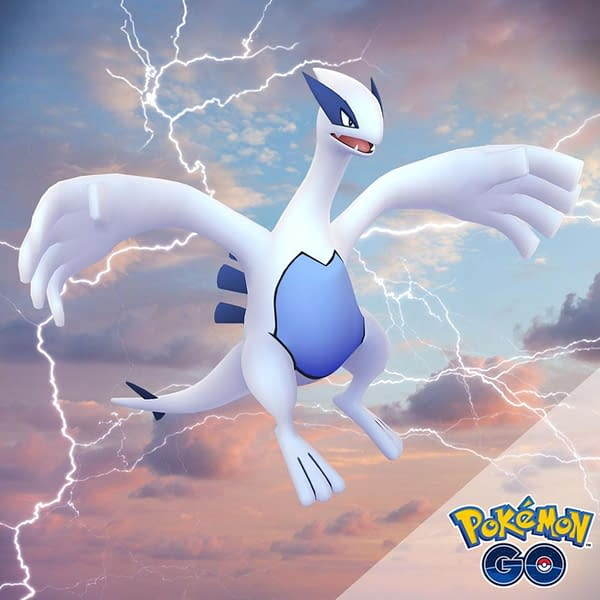 Aeroblast Lugia may be coming to Pokémon GO this month. Credit: Niantic