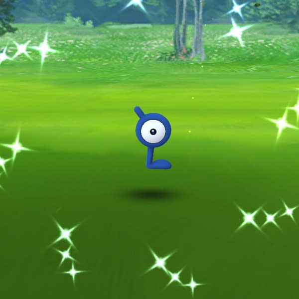 Pokémon GO Enigma Week made Shiny Unown hunting quite the struggle. Credit: Niantic