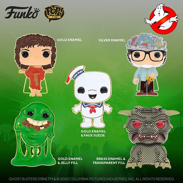 Funko Pop Pins Wave 2: Golden Girls, Ghostbusters, My Hero and More