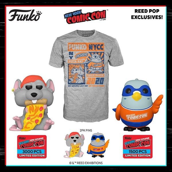 Funko Starts Off NYCC 2020 Reveals with NYCC Mascots