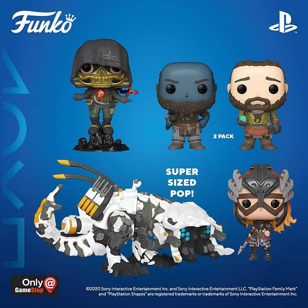 Funko Announces New Pops for God of War, Horizon Zero Dawn, and More