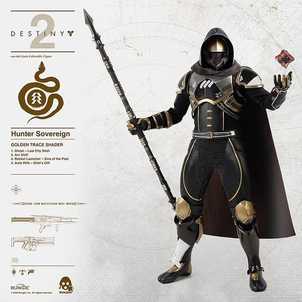 Destiny 2 Hunter Sovereign Heroes Get New Threezero Figures