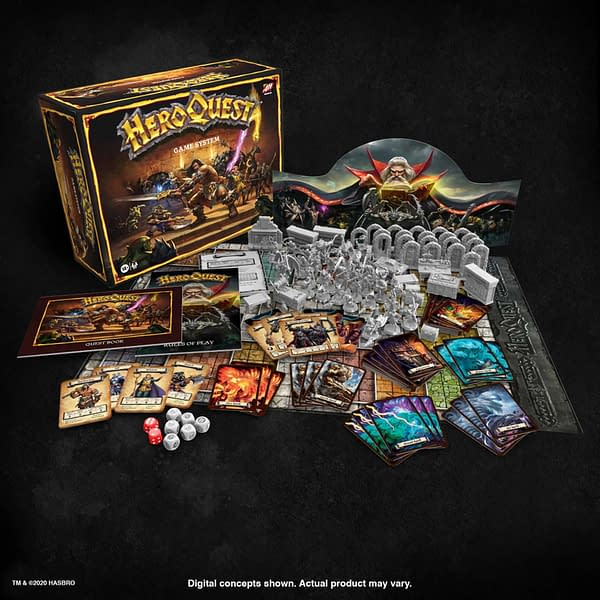 A look at the new version of HeroQuest from Avalon Hill.