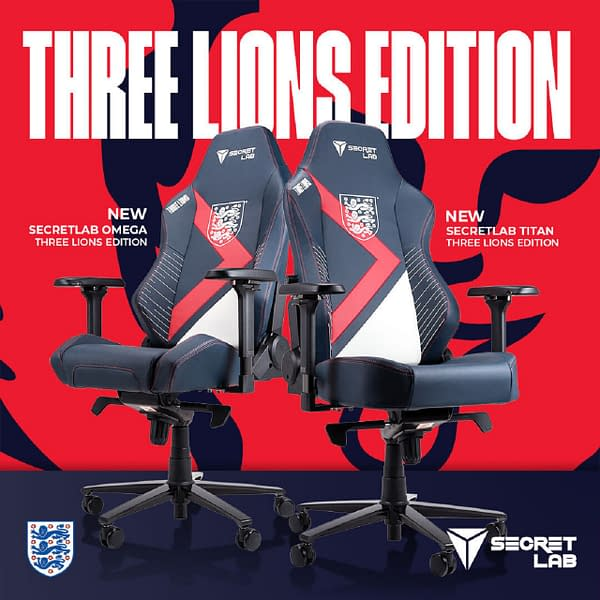 A look at the Three Lions chair, courtesy of Secretlab.