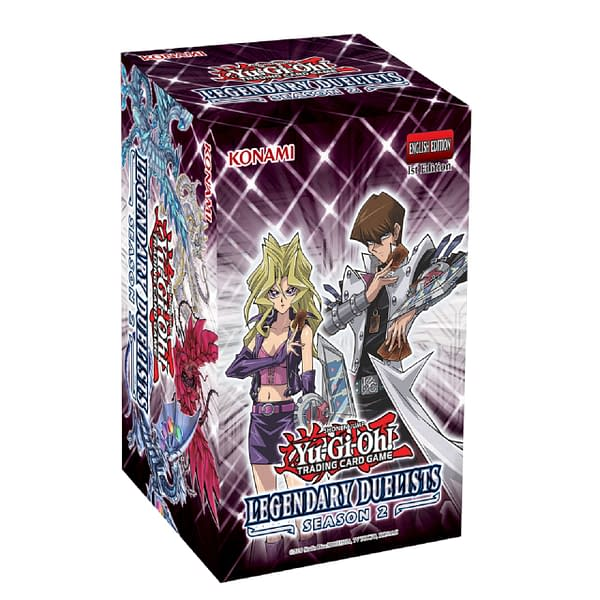 A look at the packaging for Yu-Gi-Oh! TCG Legendary Duelists: Season 2, courtesy of Konami.
