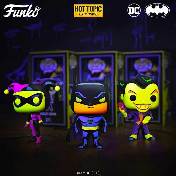Funko Officially Announces Batman Animated Black Light Pops