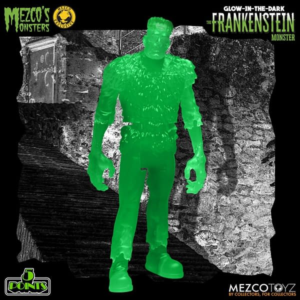 Frankenstein Monster Lives with New Mezco Toyz 5 Points Figure