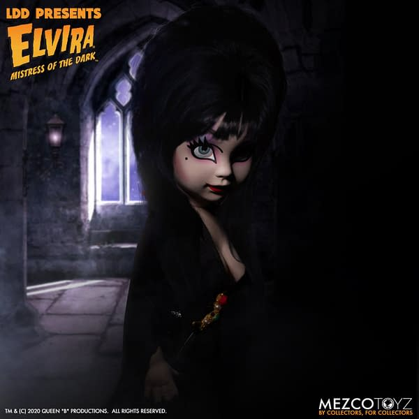 Elvira Mistress of the Dark Joins Mezco Toyz Living Dead Doll